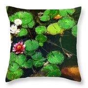 0148-lily -   Oil Stain Sl Throw Pillow