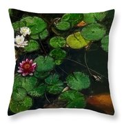 0148-lily -  Color Drawing Sl Throw Pillow