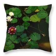 0148-lily -  Colored Photo 1 Throw Pillow