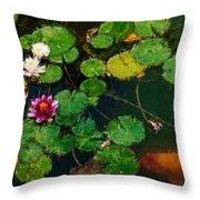 0148-lily -  Expressionist Plein Air Sl Throw Pillow