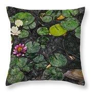 0148-lily -  Synchro Sl Throw Pillow