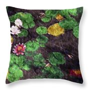 0148-lily -  Watercolor 2 Sl Throw Pillow