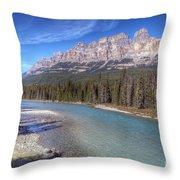 0149 Castle Mountain Throw Pillow