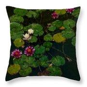 0151-lily -   Expressionist Plein Air Sl Throw Pillow