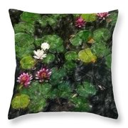 0151-lily -   Light Color Pencil Sl Throw Pillow