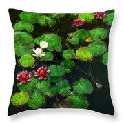 0151-lily -   Oil Stain Sl Throw Pillow