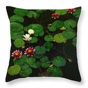 0151-lily -  Colored Photo 1 Throw Pillow