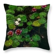 0151-lily - Color Drawing Sl Throw Pillow
