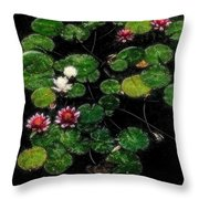 0151-lily - Embossed Sl Throw Pillow