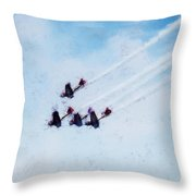 0161 - Air Show - Acanthus Throw Pillow