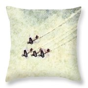 0161 - Air Show - Colored Photo 2 Hp Throw Pillow