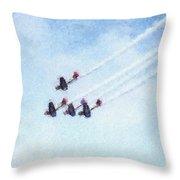 0161 - Air Show - Pastel Chalk 2  Throw Pillow