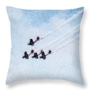 0161 - Air Show - Watercolor Throw Pillow