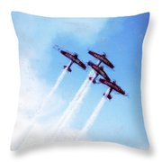 0166 - Air Show - Acanthus Throw Pillow