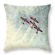 0166 - Air Show - Colored Photo 2 Hp Throw Pillow