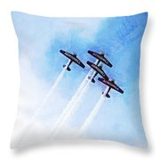 0166 - Air Show - Lux Throw Pillow