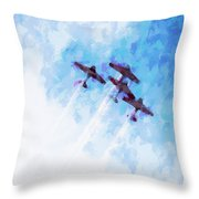 0166 - Air Show - Oil Stain Throw Pillow