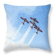 0166 - Air Show - Pastel Chalk 2 Throw Pillow