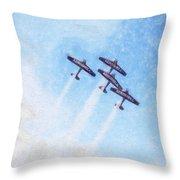 0166 - Air Show - Synchro Throw Pillow