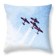 0166 - Air Show - Watercolor 1 Throw Pillow