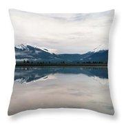 0188 Mountain Reflection Throw Pillow