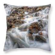 0190 Glacial Runoff 2 Throw Pillow