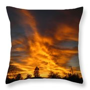02 05 11 Sunset Two Throw Pillow