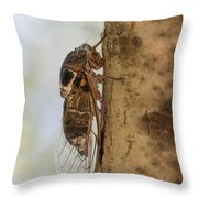 02 New Forest Cicada  Throw Pillow