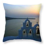 0210 Oia Sunset Throw Pillow