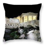 0212 The Acropolis Athens Greece Throw Pillow