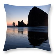0213 Cannon Beach Throw Pillow