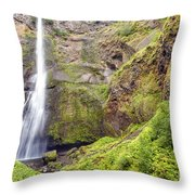 0237 Multnomah Falls Oregon Throw Pillow