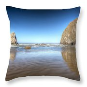 0238 Cannon Beach Oregon Throw Pillow