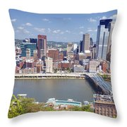 0240 Pittsburgh Pennsylvania Throw Pillow