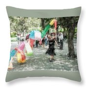 0263-jingshan Park - Light Color Pencils Sl Throw Pillow