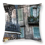 0275 New Orleans Balconies Throw Pillow
