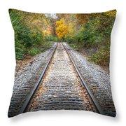 0276 Tracks Throw Pillow