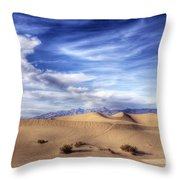 0292 Death Valley Sand Dunes Throw Pillow