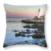 0312 Portland Head Lighthouse Throw Pillow