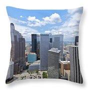 0317 Dallas Texas Throw Pillow