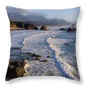0319 Indian Beach Throw Pillow
