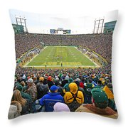 0350 Lambeau Field Throw Pillow