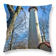 0378 Grosse Point Lighthouse Throw Pillow