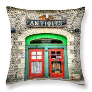 0386 Antique Store Throw Pillow