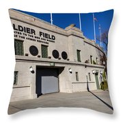 0417 Soldier Field Chicago Throw Pillow by Steve Sturgill