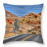 0445 Valley Of Fire Nevada Throw Pillow