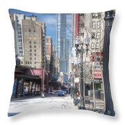 0450 Wabash Avenue Chicago Throw Pillow