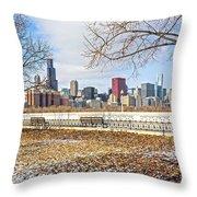 0452 Chicago Skyline Throw Pillow
