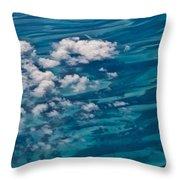 0458 Above The Caribbean Throw Pillow