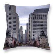 0500 Lasalle Street Bridge Chicago Throw Pillow